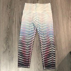 Athleta Chaturanga Capri in multiple color stripe